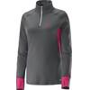 Salomon W's Trail Runner Warm LS ZIP Tee Galet Grey / Hot Pink
